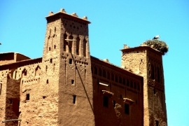 аист на башне бен-Хадду