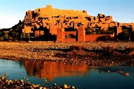 ручей и гора в Марокко
