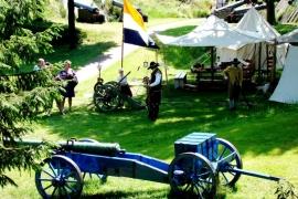 реконструкция сражения в Буртанже