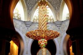 вечерняя молитва в мечети Зайда