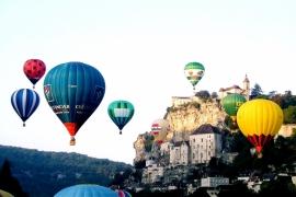 Воздушные шары над Рокамадуром
