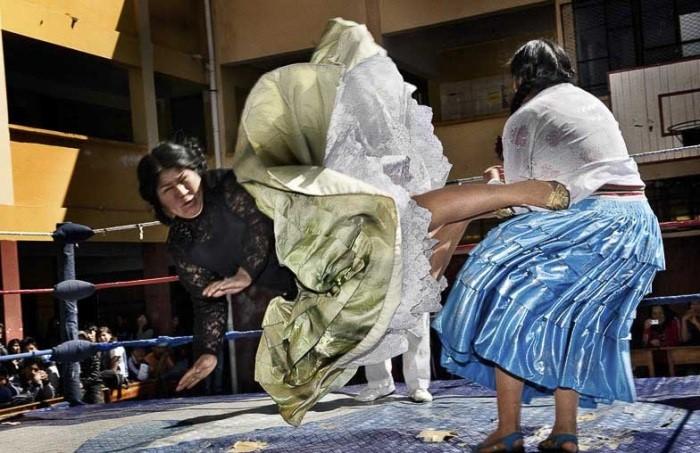 схватка борцов женщин