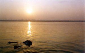 закат на Ганге