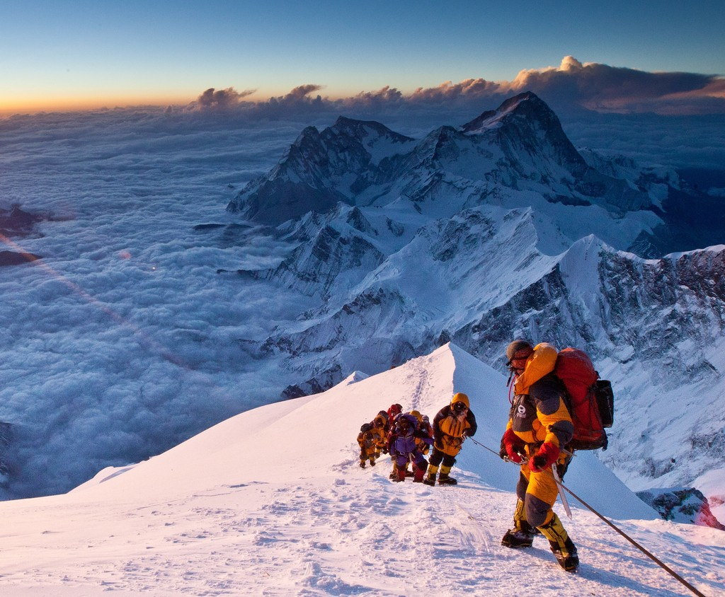 группа альпинистов