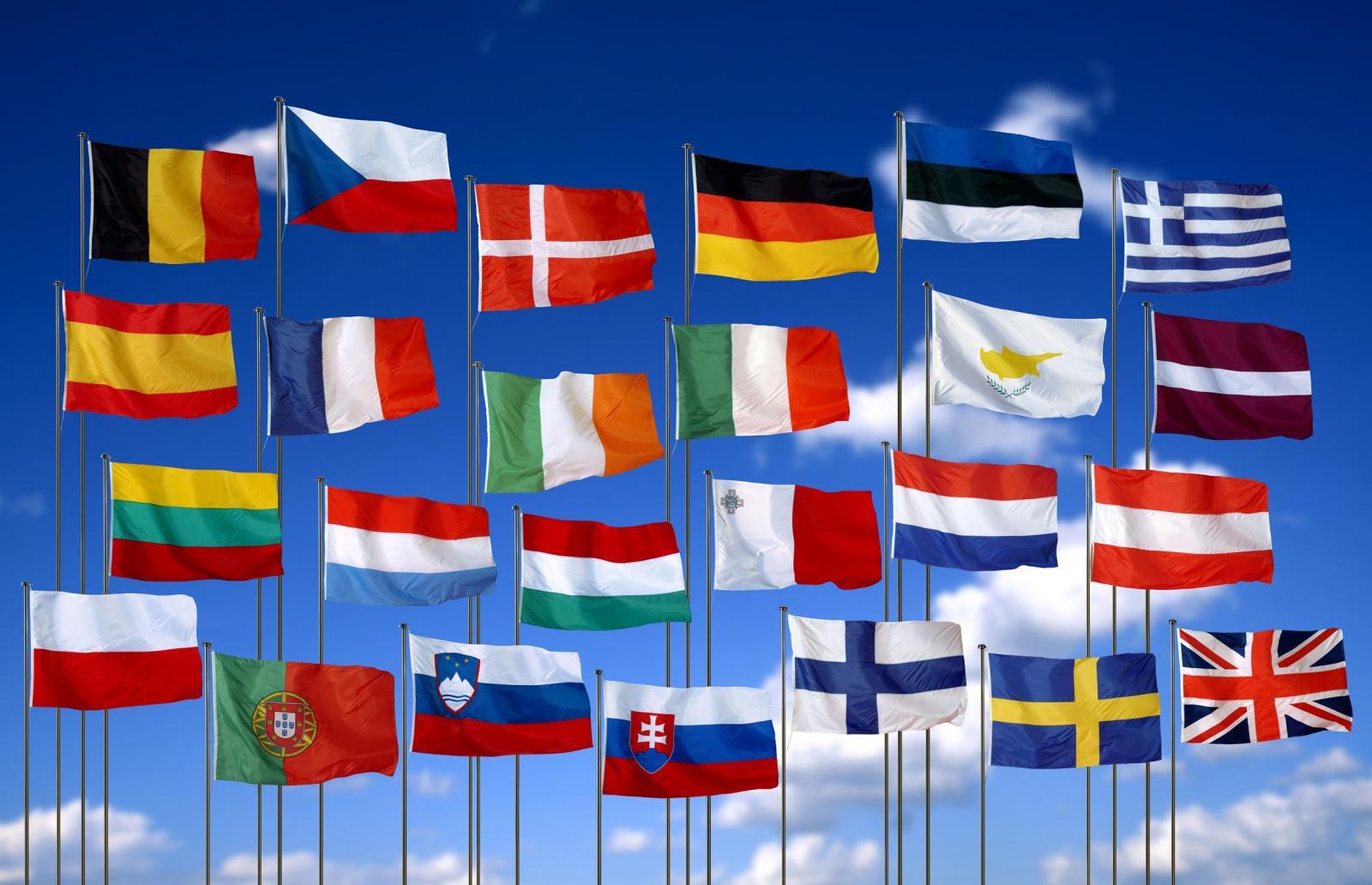 флаги европы