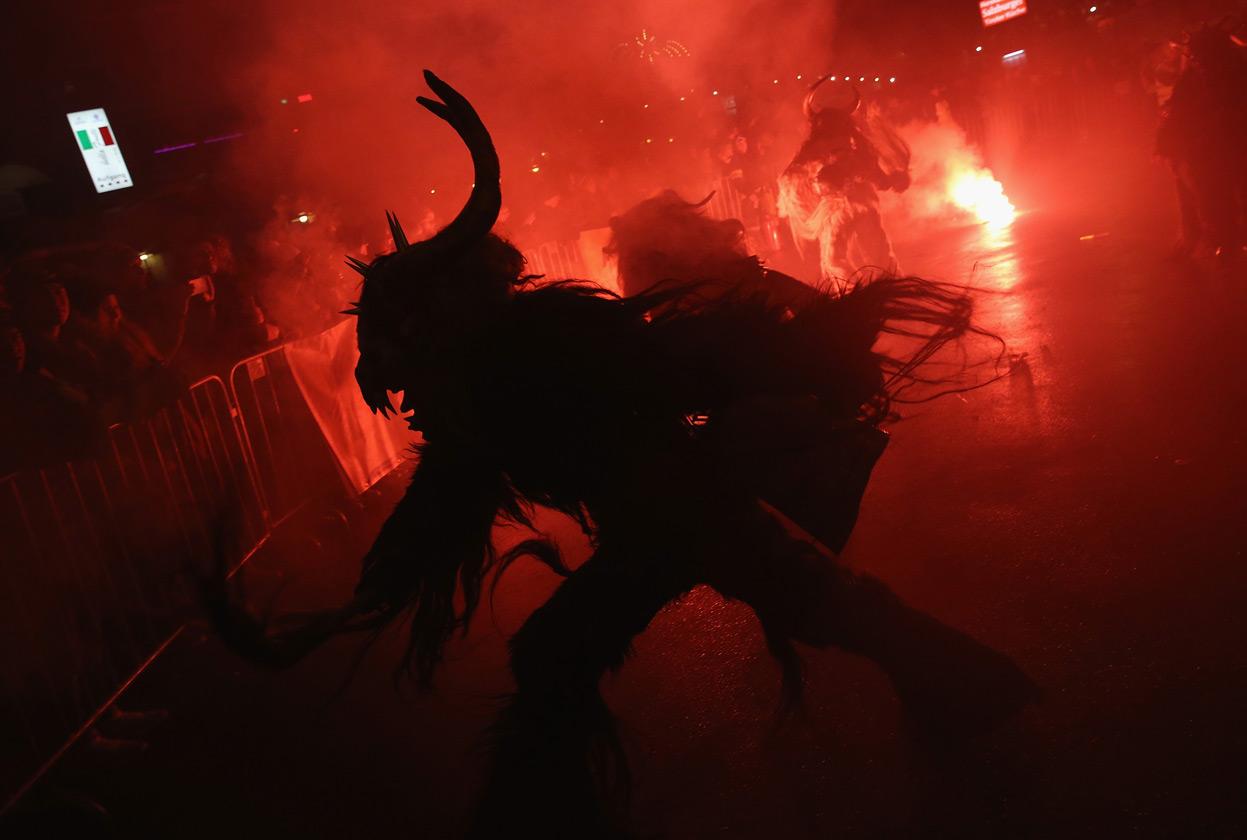 огненный фейерверк, ночь Крампуса
