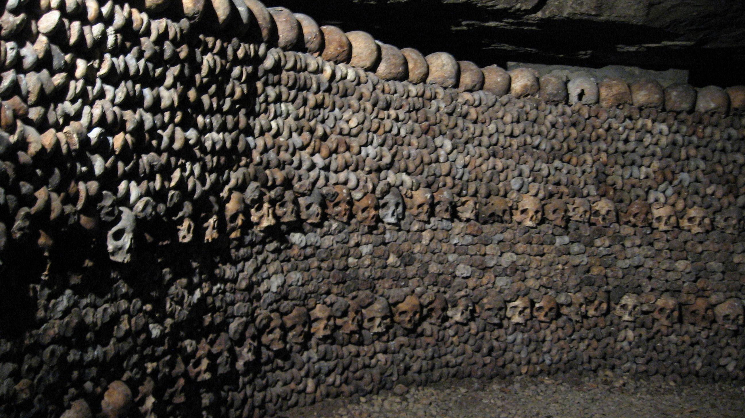 стены катакомб парижа