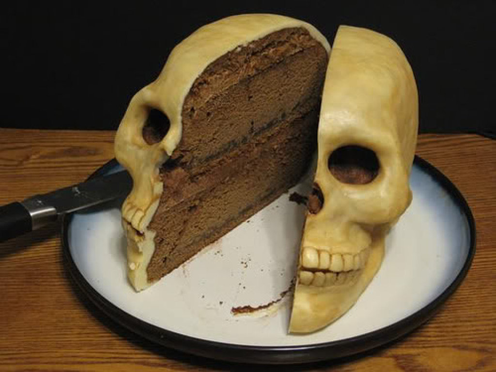 торт череп