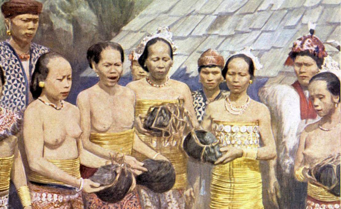 группа аборигенов с головами