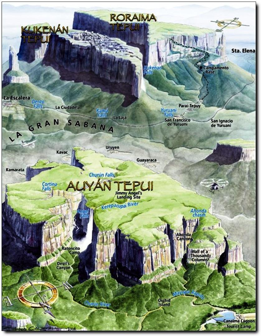 карта национального парка канайма
