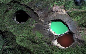 панорама вулканических озер