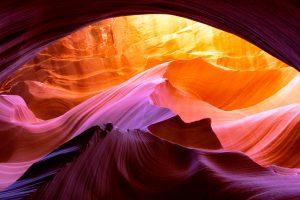 абстрактная картина каньона