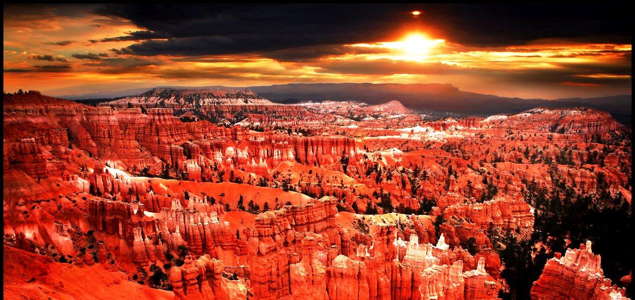 панорама каньона брайс