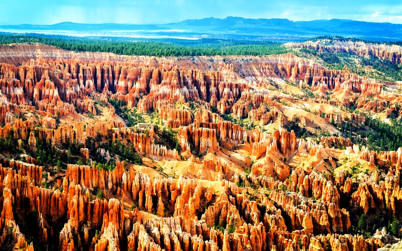 скалы каньона брайс
