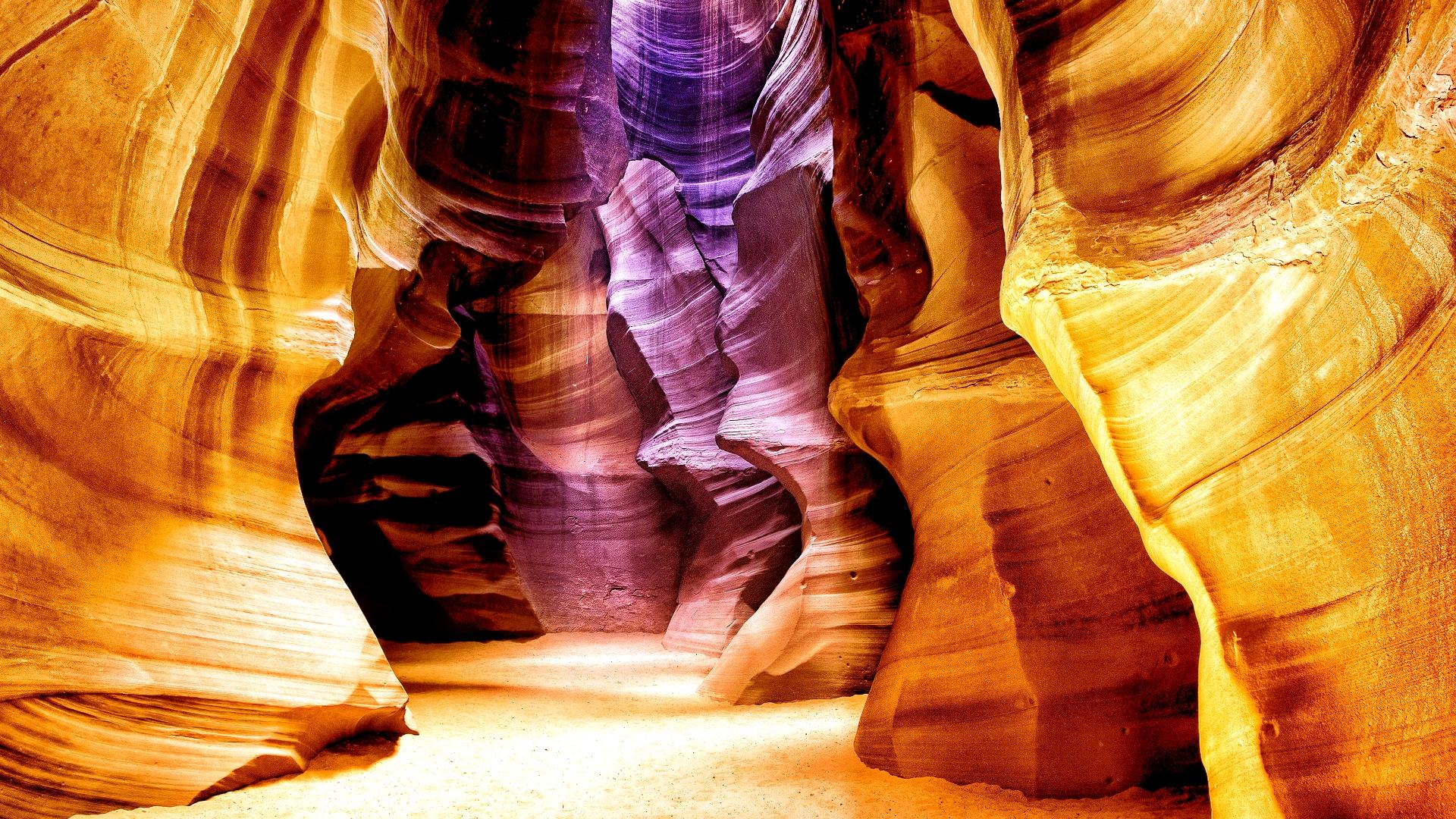 световые блики в каньоне