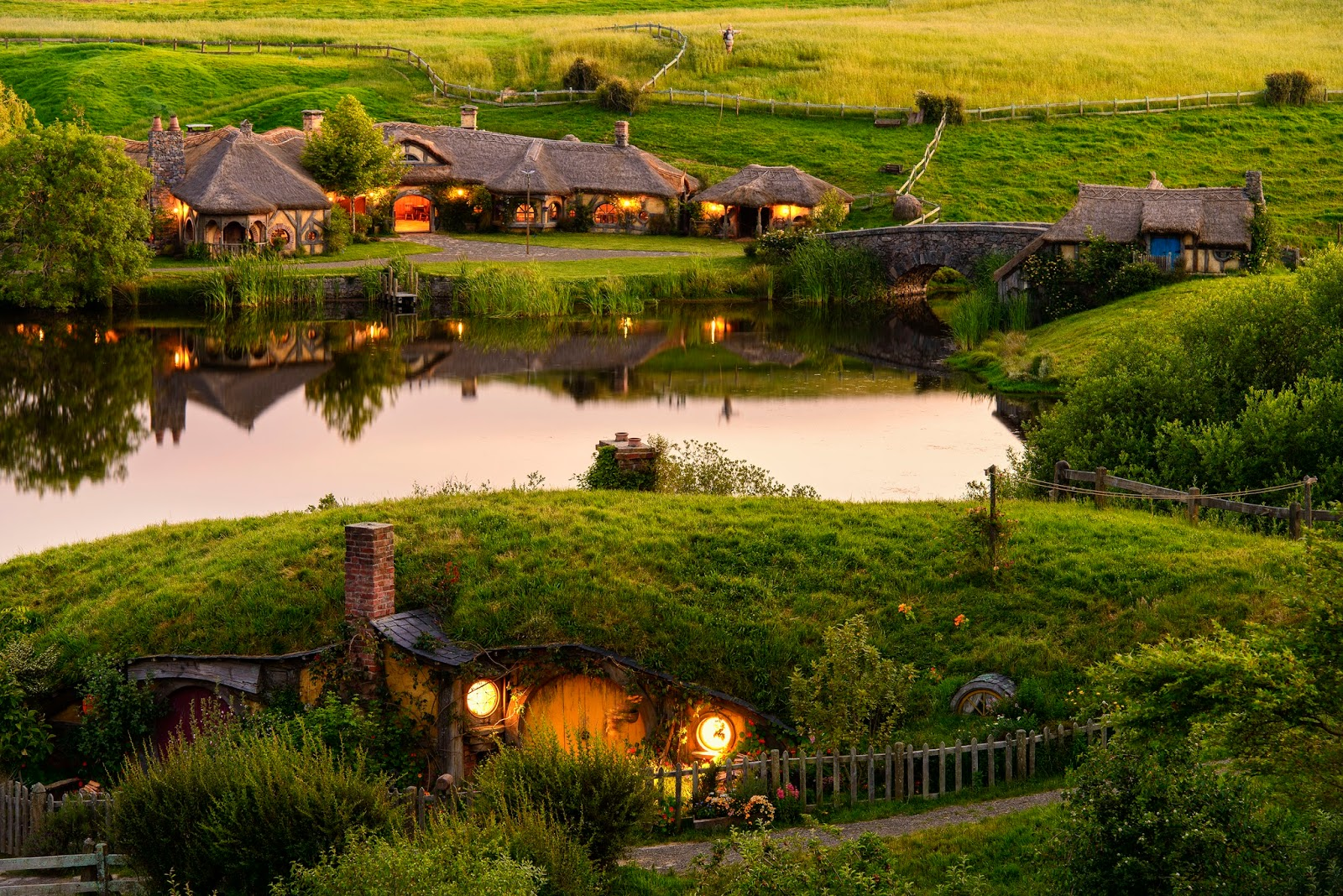 панорама деревни хоббитон