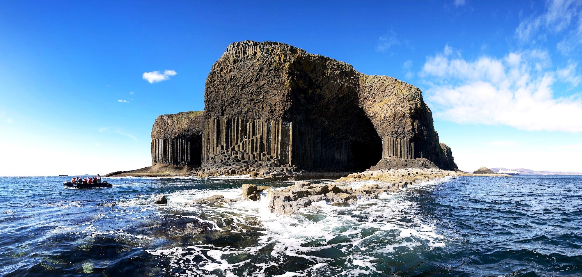 остров стаффа с моря