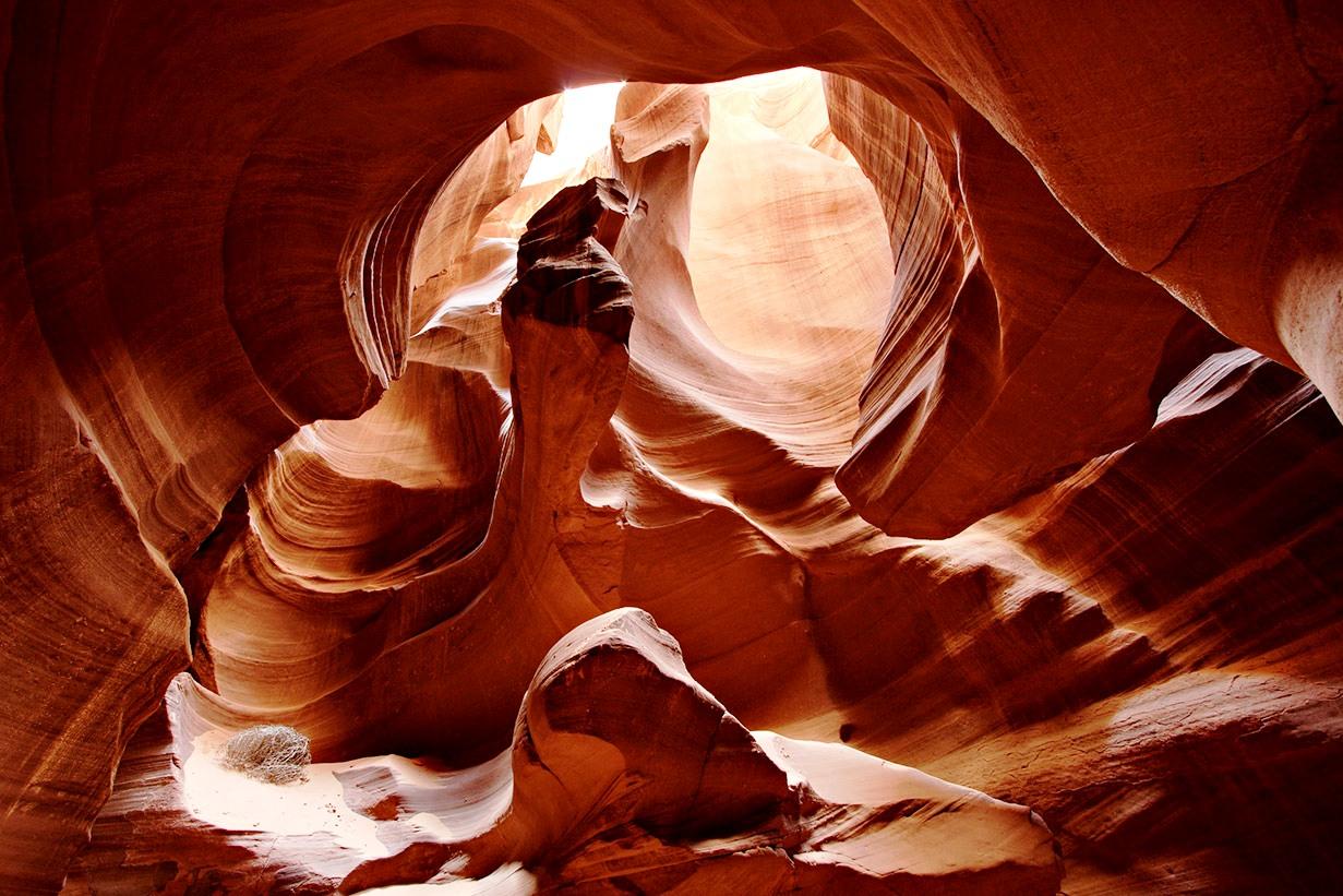 пещера в каньоне антилопы