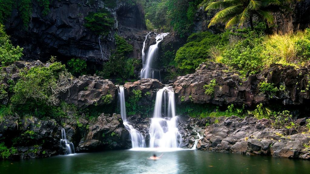 водопады халеакалы