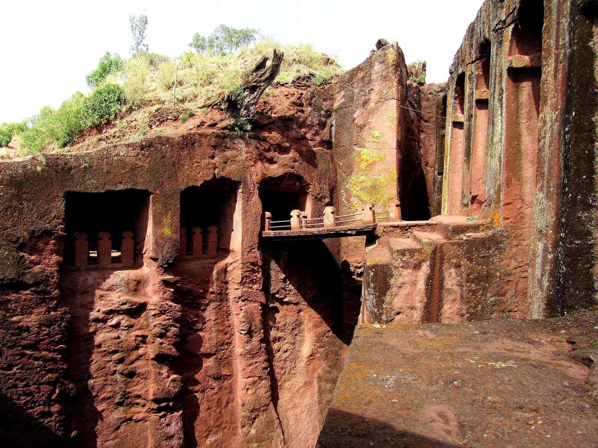 церкви в скале, эфиопия