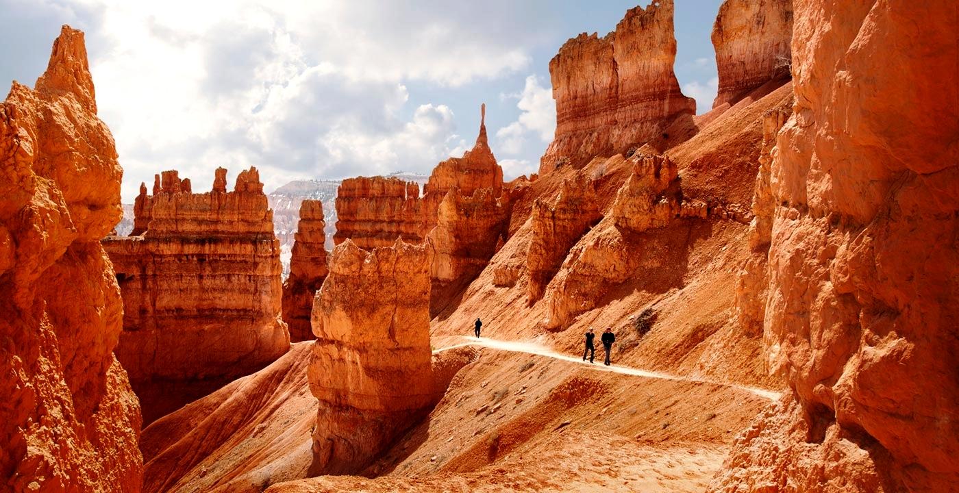 ущелье в каньоне брайс
