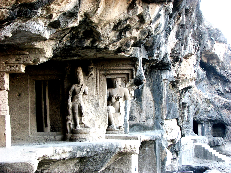 каменные барельефы эллоры