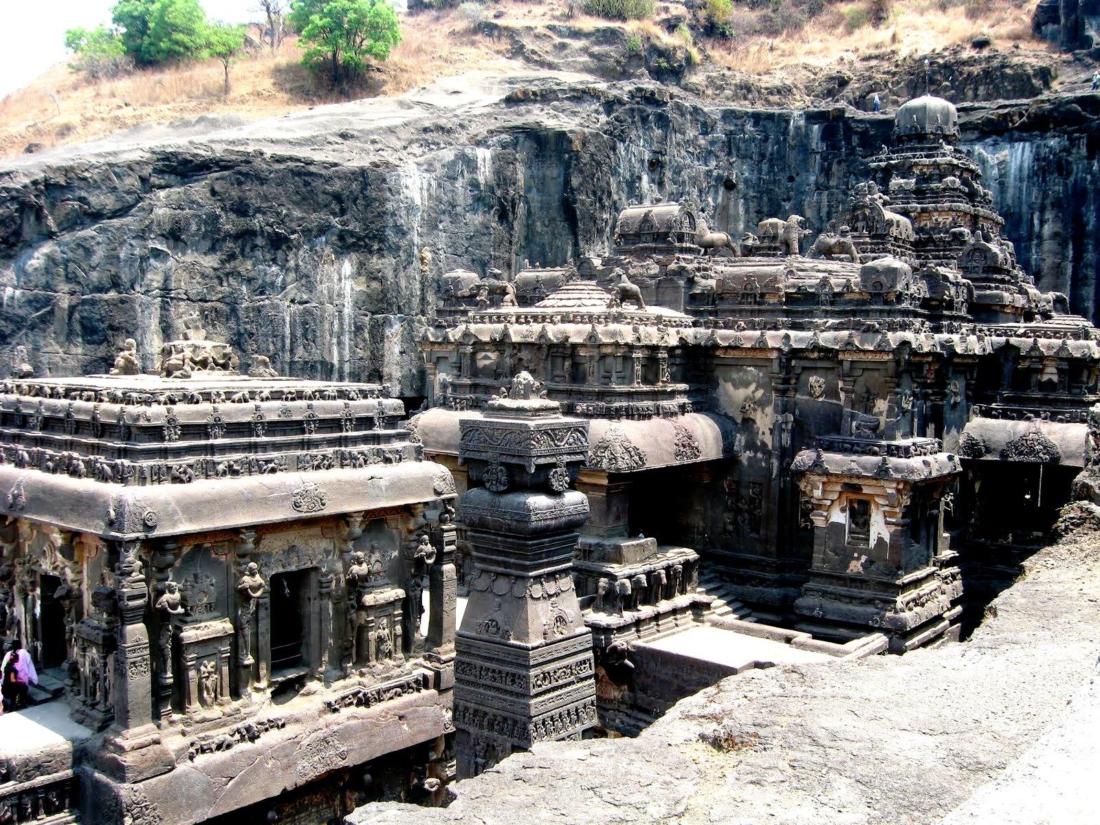 храм кайлаша, вид справа