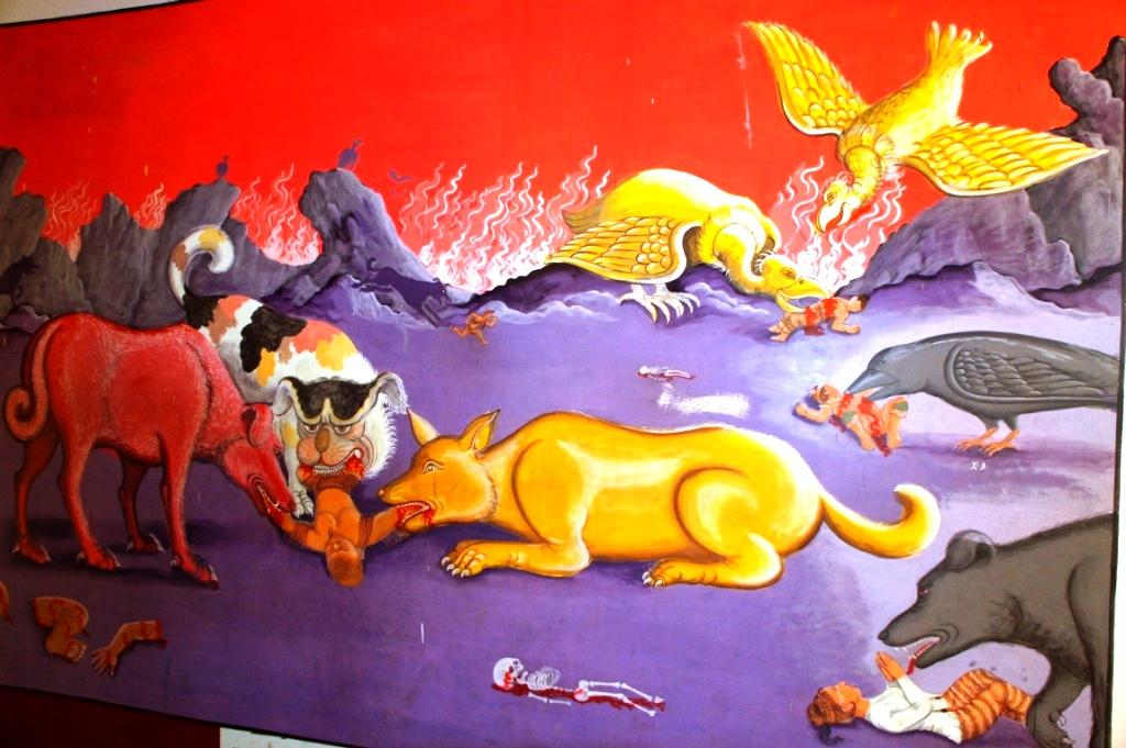 звери и грешники в буддийском аду