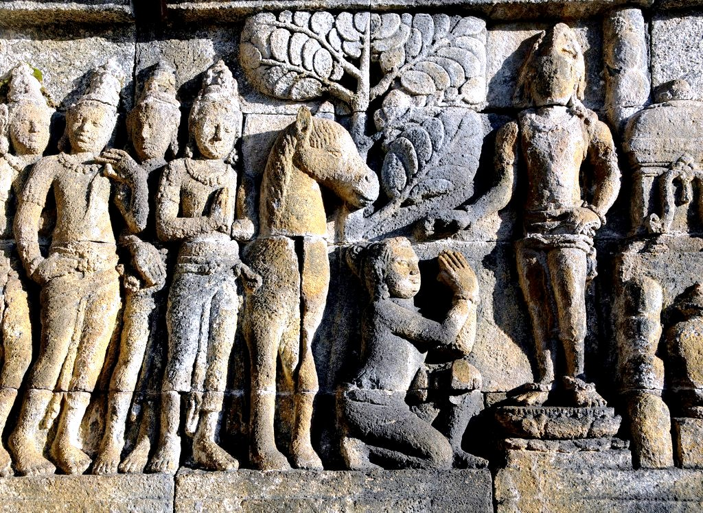 картины в камне, боробудур