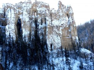 зимний ландшафт ленских столбов