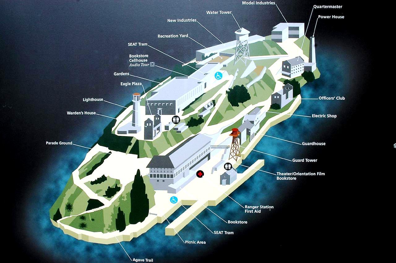 план алькатраса