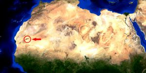 глаз пустыни на карте