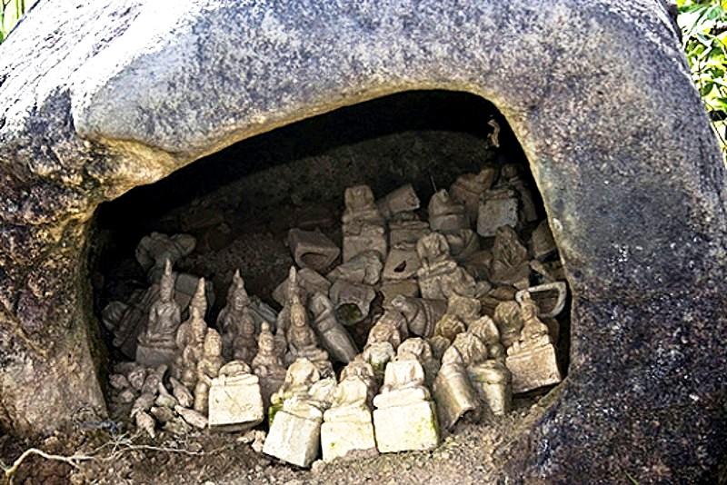 клад в каменном сосуде