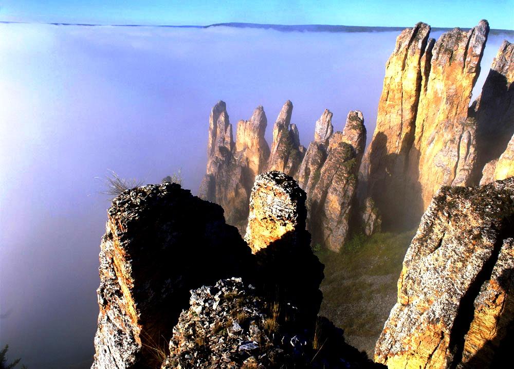 туман над ленскими столбами