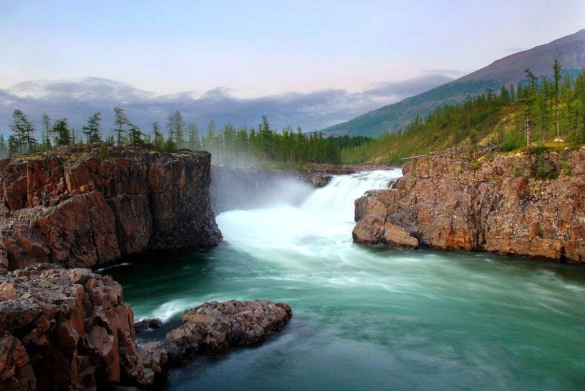 реки на плато путорана