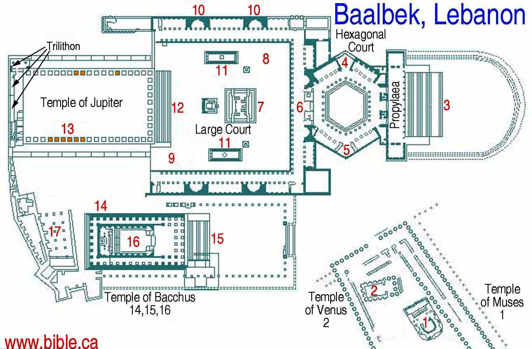 схема баальбека