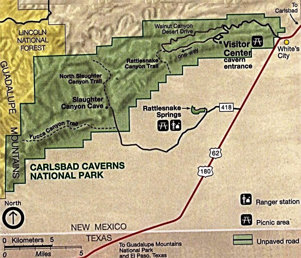 карта карлсбадских пещер