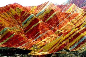 разноцветные холмы
