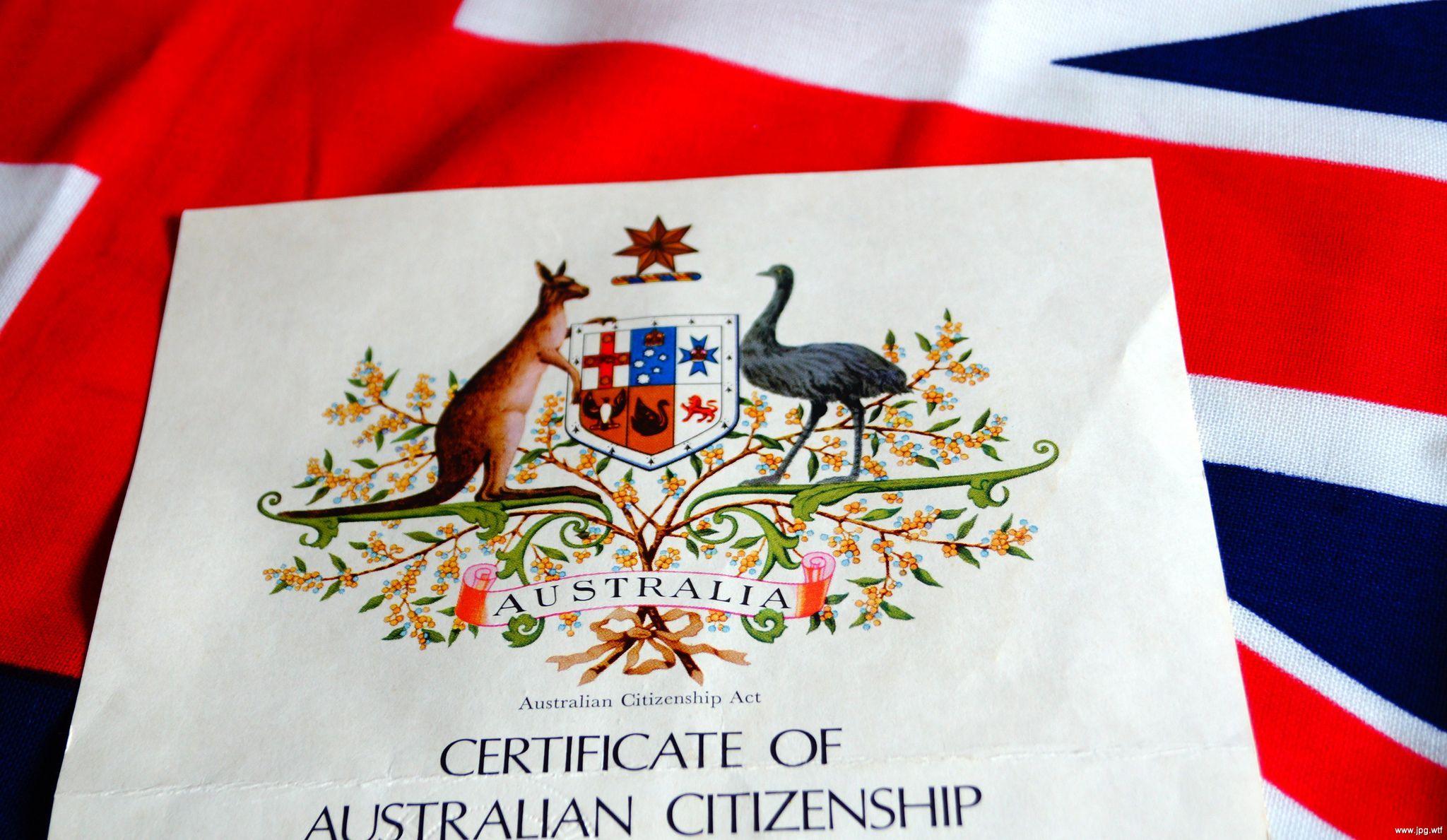 австралийский сертификат