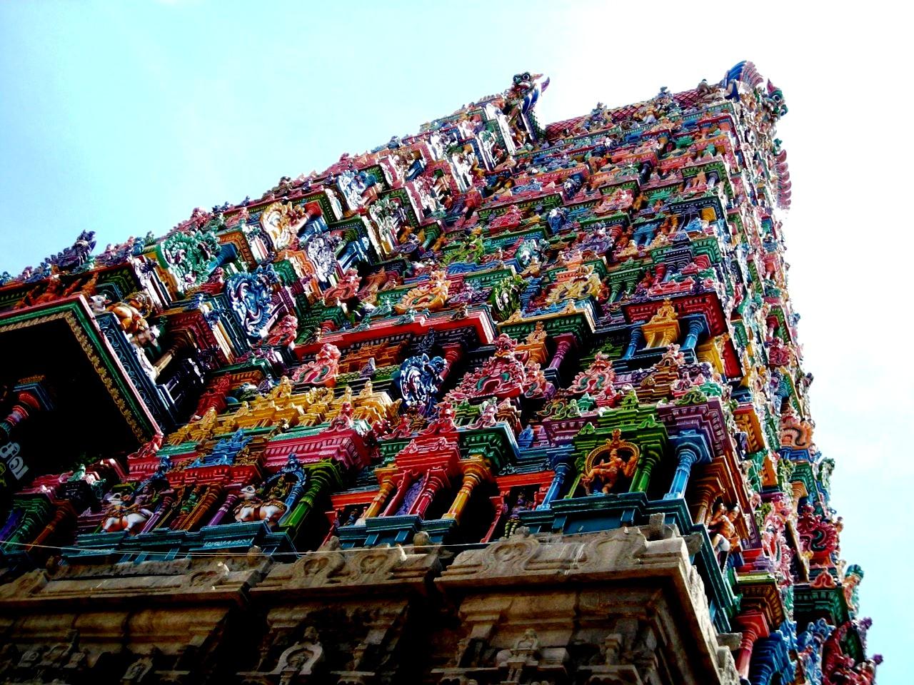 башня храма минакши