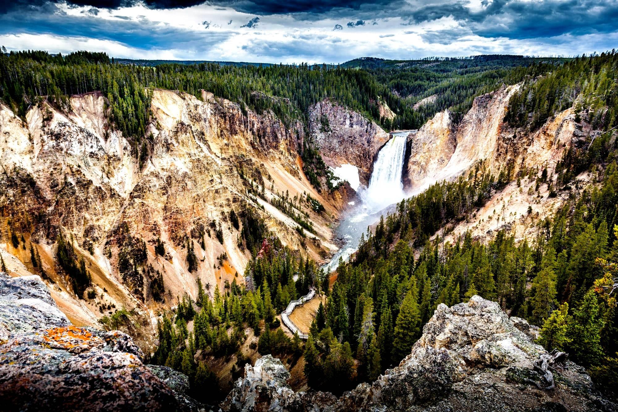 йеллоустонский водопад