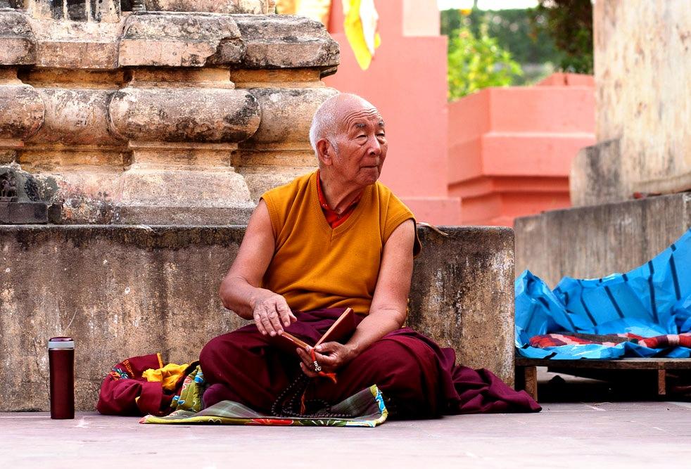 буддист в бодхгае