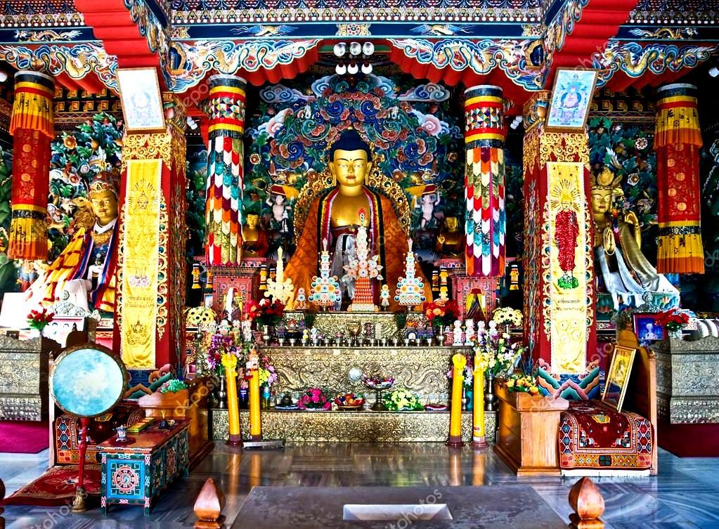 залы храма бодхгаи