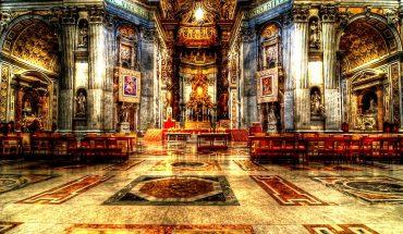 внутри базилики святого петра