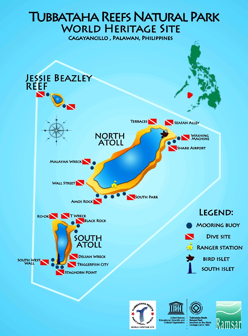 схема парка риф туббатаха