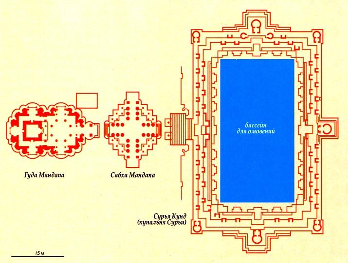 карта храма в Модхере