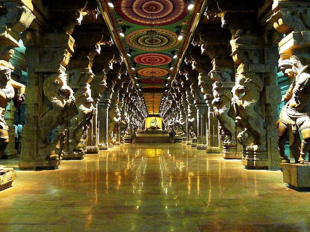 магический зал храма минакши