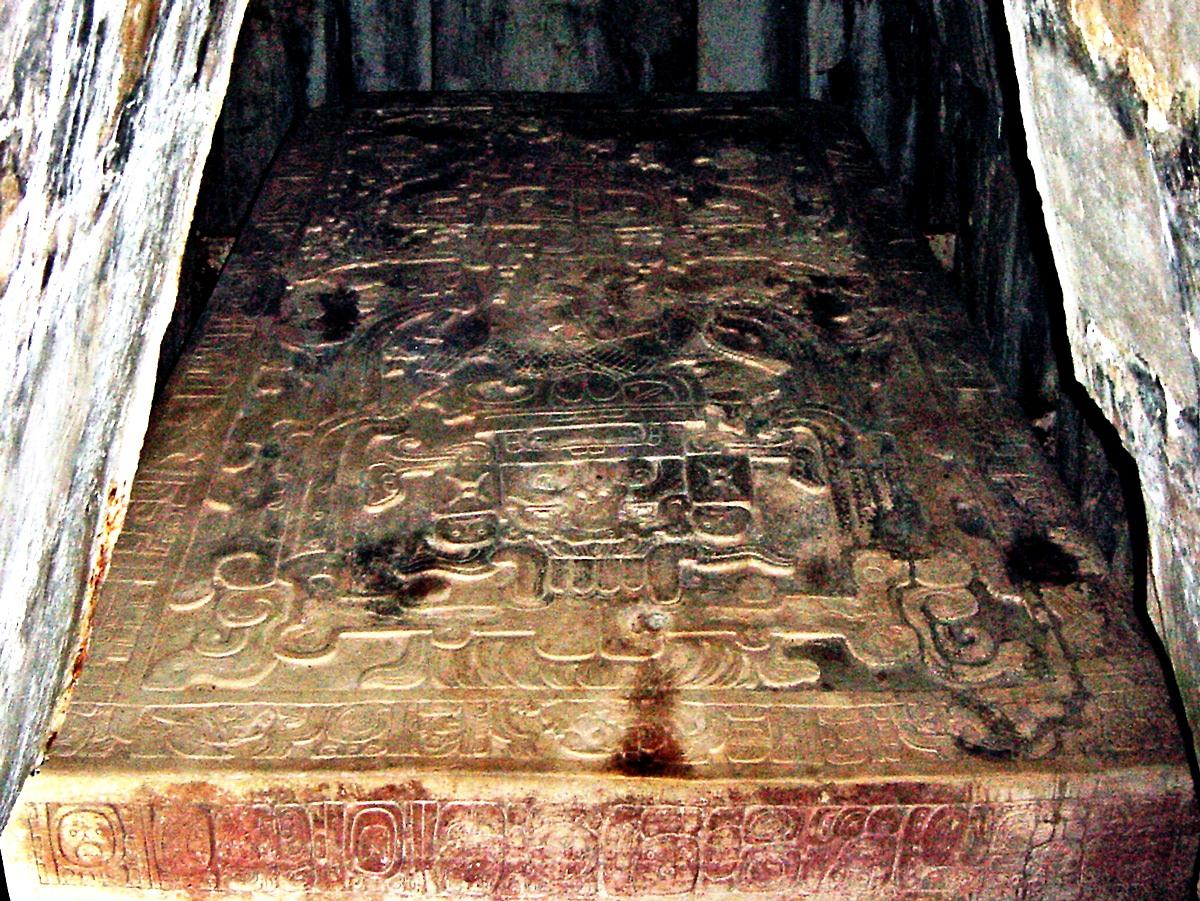 саркофаг майя