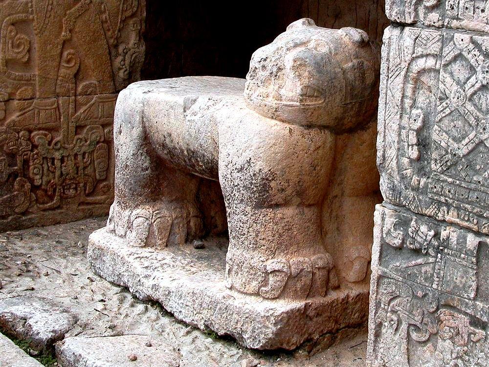 статуя зверя в чичен-ице