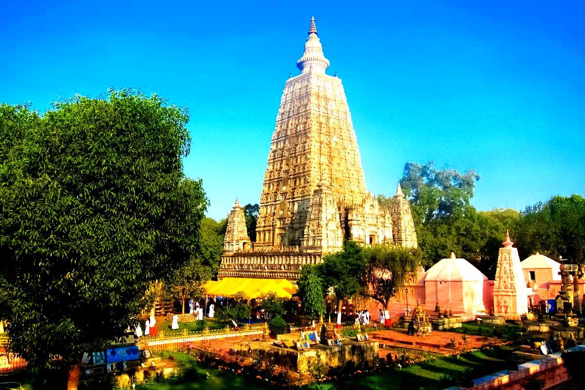 пейзаж с храмом махабодхи